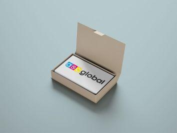 wizytówki w pudełku
